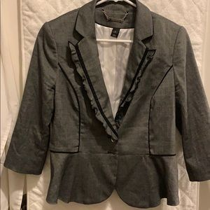 Dark gray 3/4 length blazer
